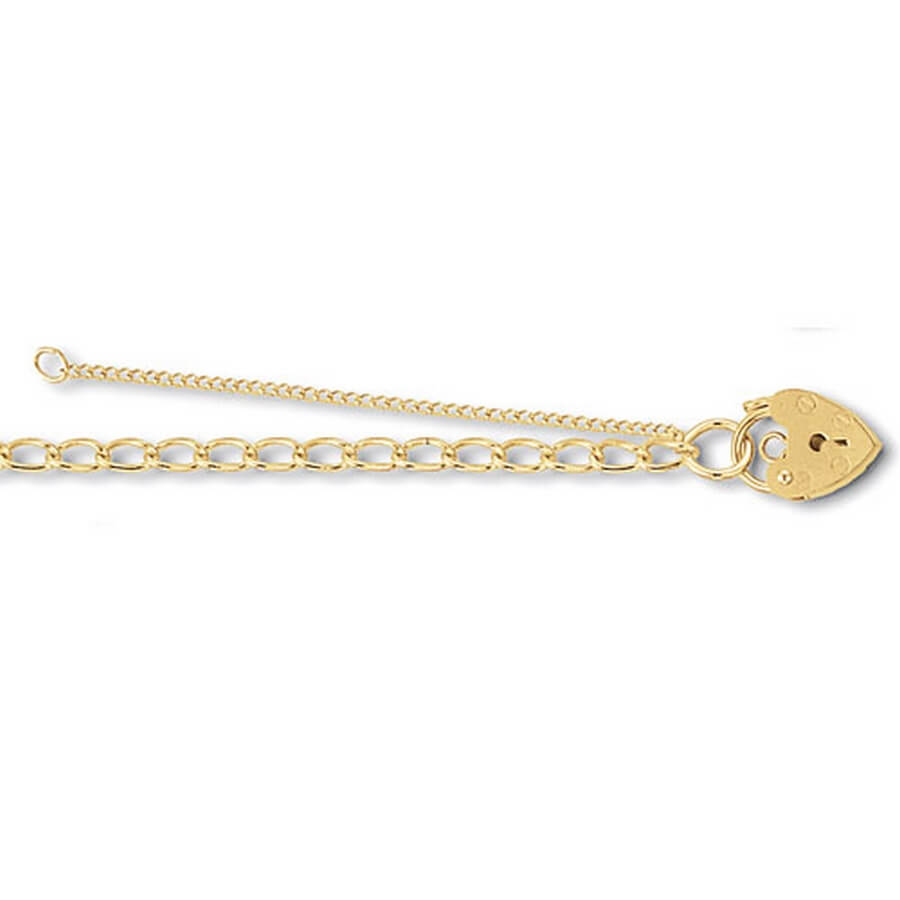 Childs 5inch Charm Bracelet in 9ct Yellow Gold