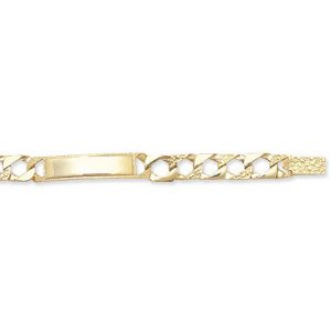 Childs 5.5inch Cast Chain ID Bracelet in 9ct Yellow Gold