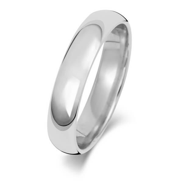 4mm Platinum Court Wedding Ring