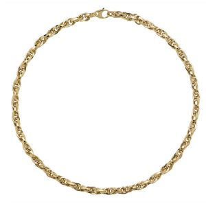 Fancy Design 17.5 inch 9ct Yellow Gold Necklace