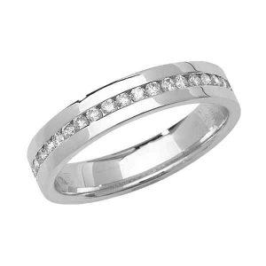 9ct White Gold Round Diamond Eternity Style Wedding Ring