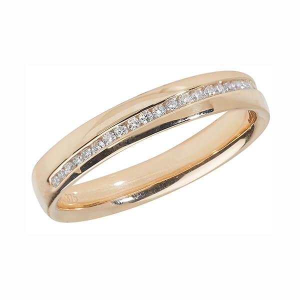 Jewelry & Watches Fine Jewelry Wedding Ring 9ct Gold Round Cut Diamond-unique Channel Set Uk Hallmarked