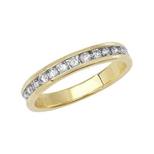 18ct Yellow Gold Half Eternity Style Diamond Wedding Ring