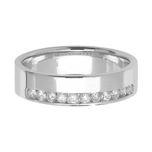 18ct White Gold Half Eternity Style Diamond Wedding Ring