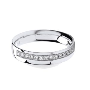 18ct White Gold Grain Set Diamond Wedding Ring