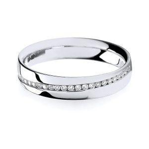 18ct White Gold Crossover Diamond Wedding Ring