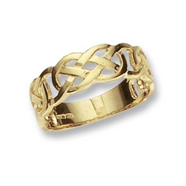Ladies Celtic Ring made in 9ct Yellow Gold