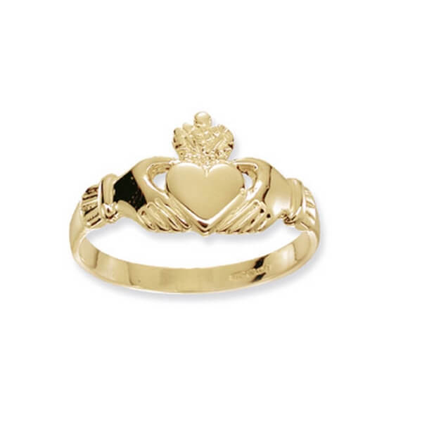 Ladies Claddagh Ring in 9ct Yellow Gold